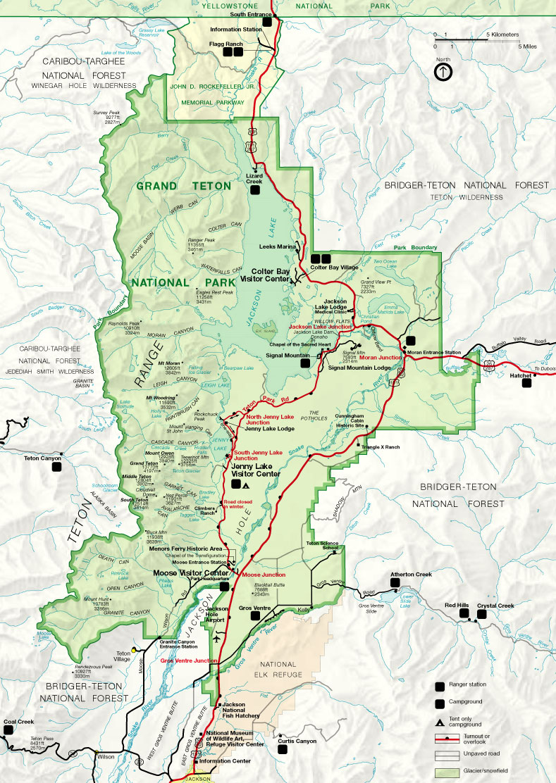 Grand Teton National Park Map Grand Teton Maps and Info Grand Teton National Park Map